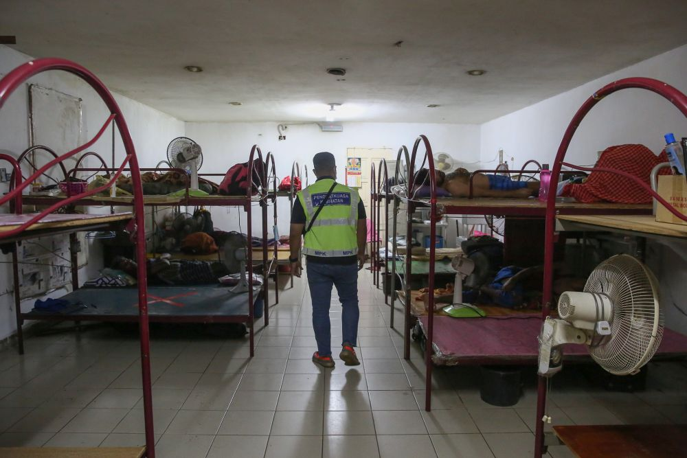 File picture shows the general view of workers' quarters within the premises of a glove manufacturer in Klang December 24, 2020. — Picture by Yusot Mat Isa