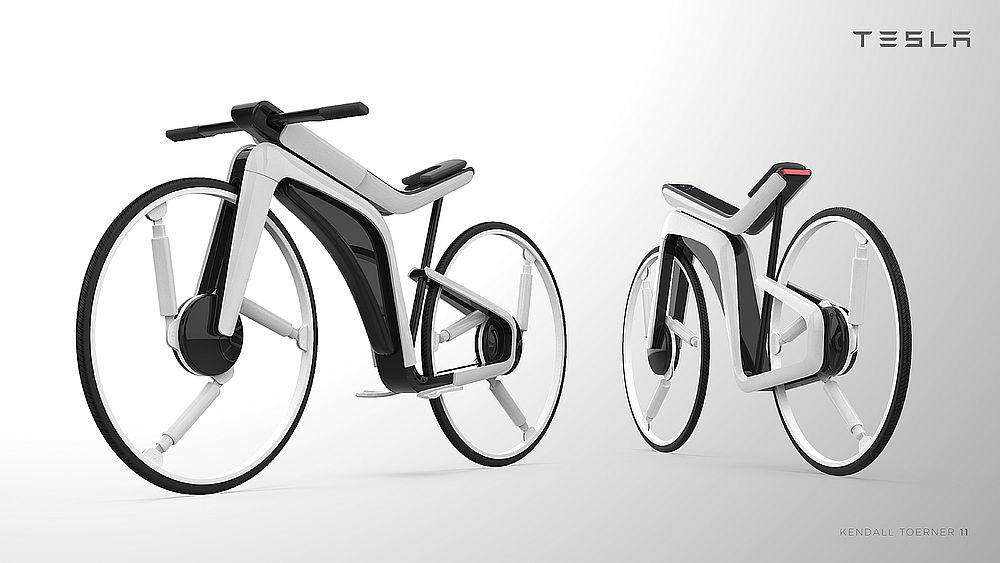 Kendall Toerner's idea of what a Tesla e-bike might look like. — Picture courtesy of Kendall Toerner via AFP