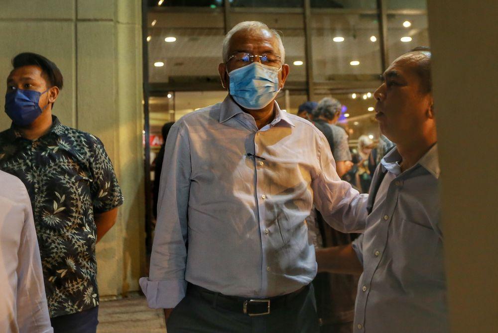 Umno vice president Datuk Seri Mahdzir Khalid leaves Menara Dato' Onn after the supreme council meeting December 8, 2020. — Picture by Ahmad Zamzahuri