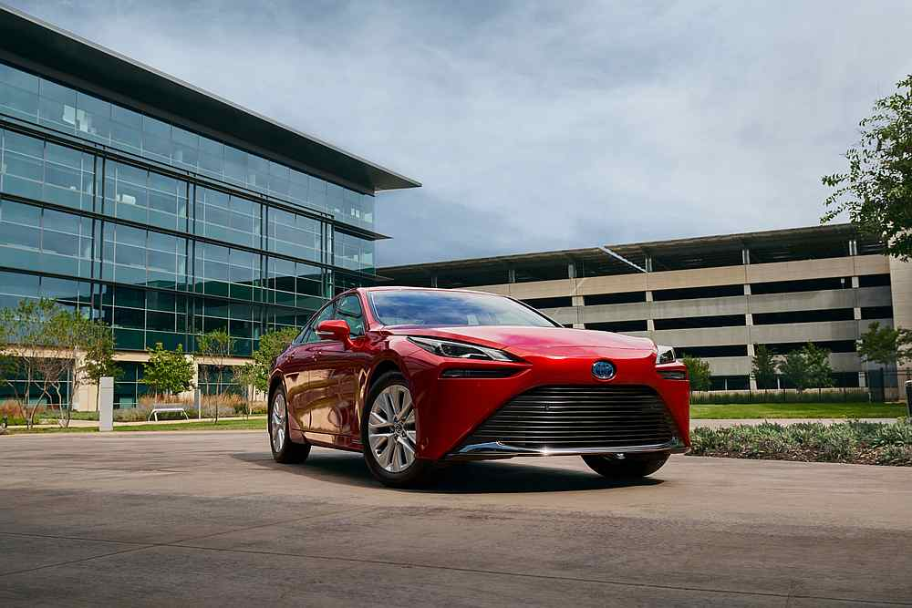 Toyota has presented its new fuel cell Mirai. — Picture courtesy of Toyota via AFP