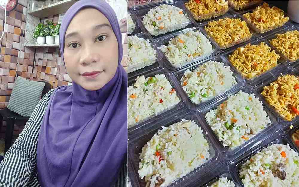 Nurul Hidayu regularly switches up the menu and gets help from family members to prepare the food each day. — Pictures from Facebook/nurulhidayu.angah