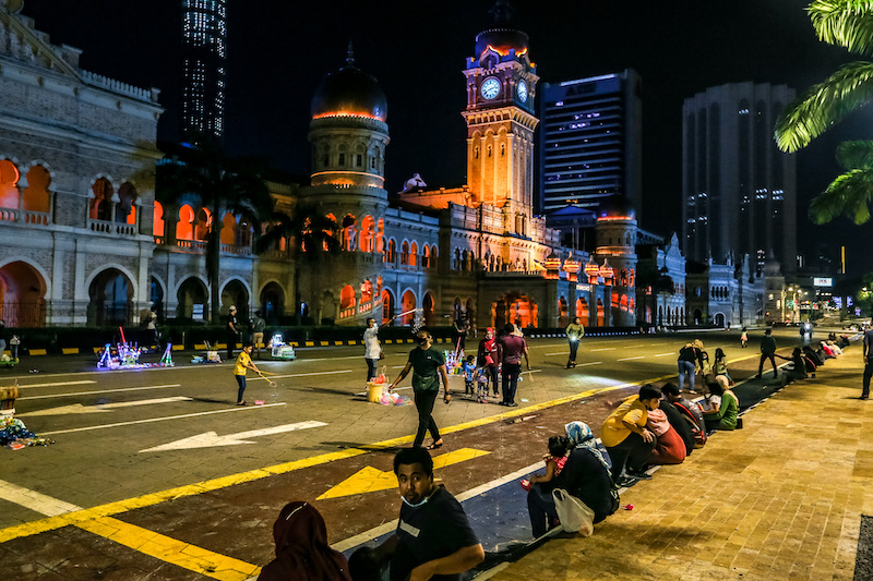 Dataran Merdeka won't be having any firework displays this year as well as they're closed for maintenance works. — Photo by Firdaus Latif
