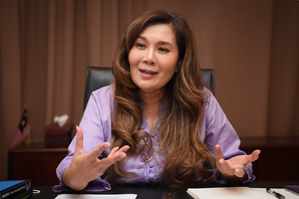 Senator Ras Adiba Radzi speaks in Kuala Lumpur in conjunction with International Day of Persons with Disabilities December 3, 2020. — Bernama pic