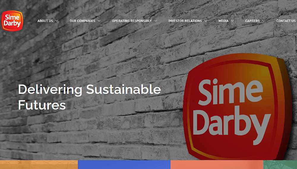 Screengrab of Sime Darby Bhd's website simedarby.com.