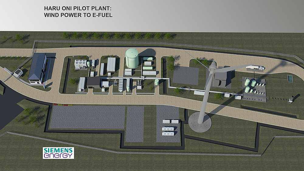 Design of the upcoming Siemens Energy biofuel pilot plant in Chile. — Image courtesy of Siemens Energy via AFP