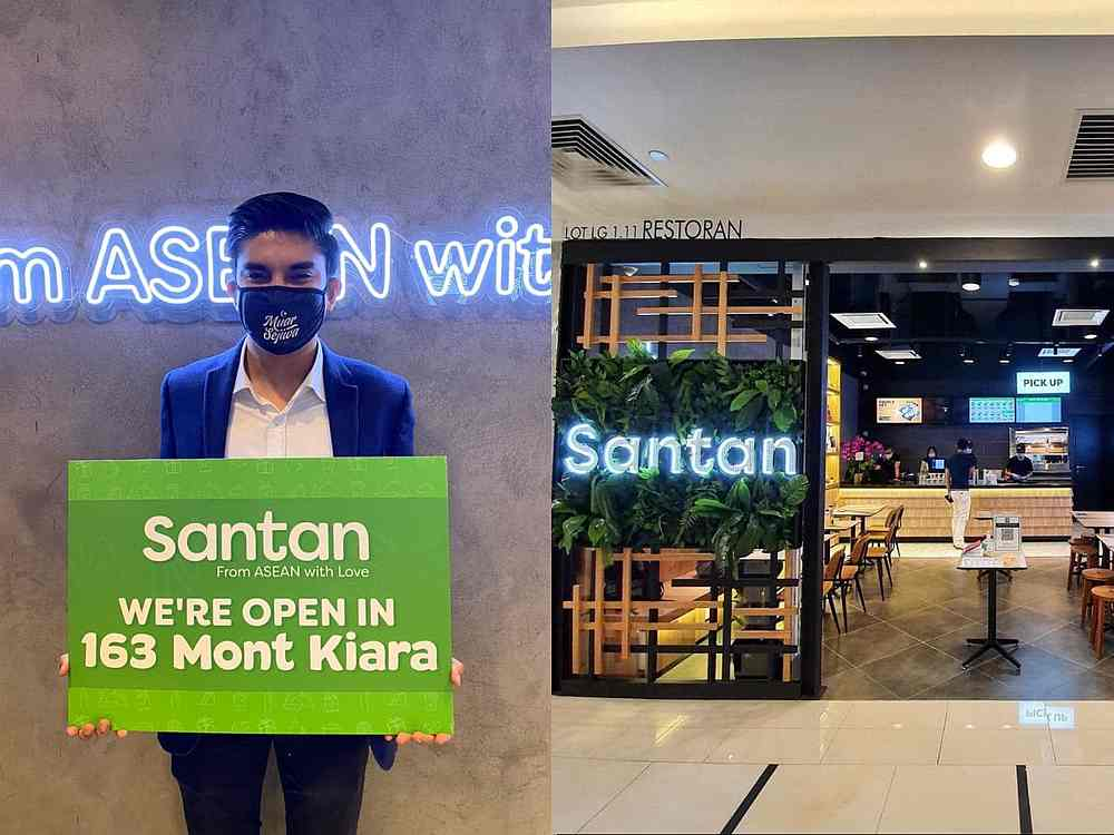 Former Youth and Sports Minister Syed Saddiq Syed Abdul Rahman announces his business venture with Santan. — Picture courtesy of Facebook/Syed Saddiq Syed Abdul Rahman