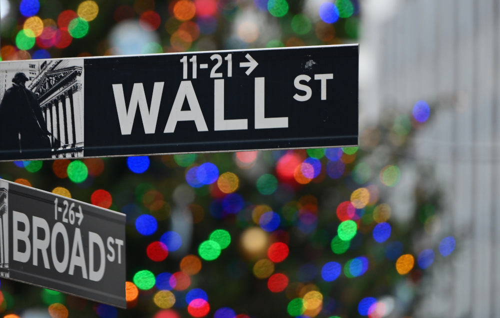 About 20 minutes into trading, the Dow Jones Industrial Average was up 0.3 per cent at 31,035.21, while the S&P 500 gained 0.7 per cent to 3,826.46. — AFP pic