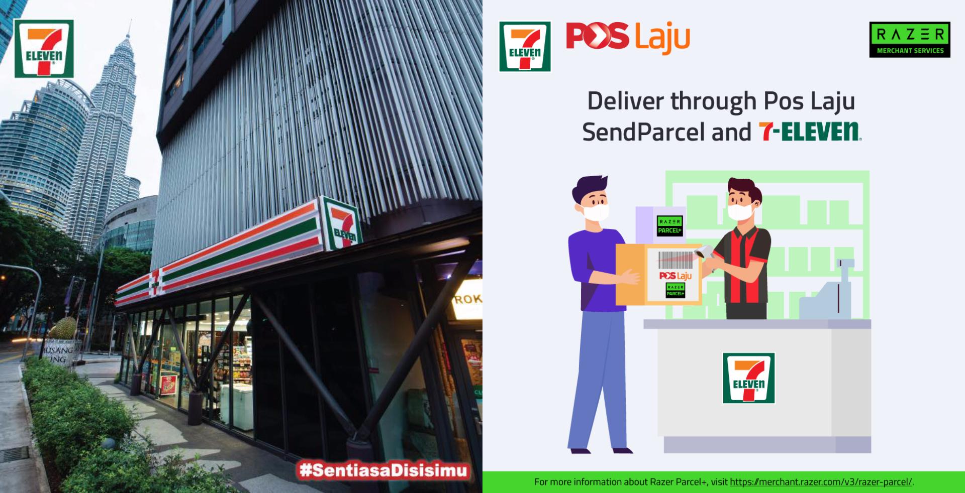 现在民众可以在7-Eleven邮寄包裹!-图摘自7-Eleven Malaysia 脸书-