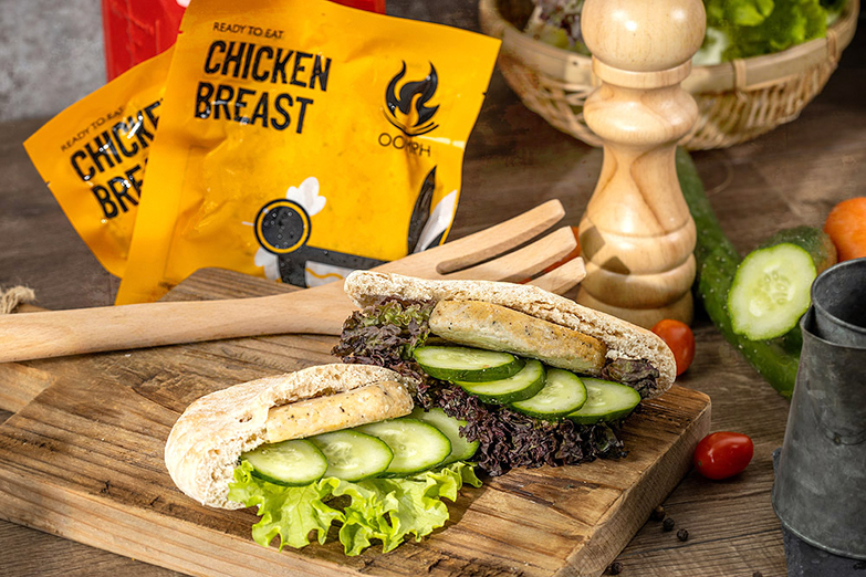 Oomph Asia's ready-to-eat Chicken Breast Patties. — Pictures courtesy of Oomph Asia
