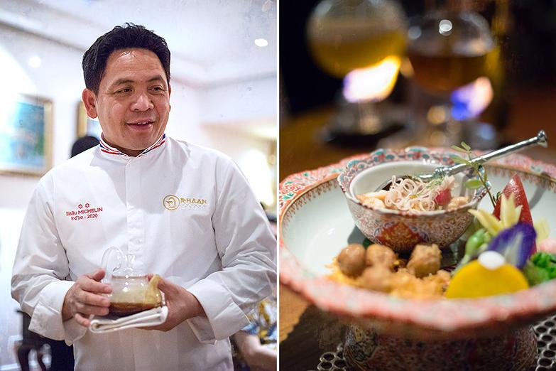 Chef Chumpol Jangprai, the executive chef at the two-Michelin-starred Thai restaurant R-Haan.