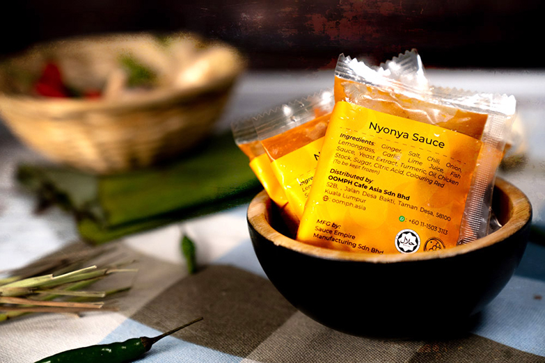 Oomph has also come up with its own tasty Nyonya Sauce to perk up your meals.