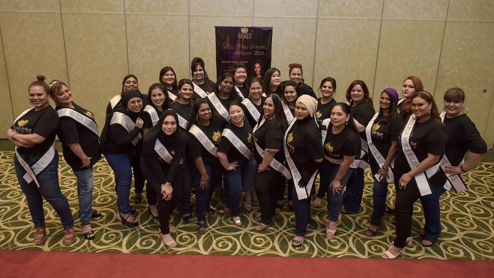 Finalists of the Miss Plus World Malaysia 2020. — Picture courtesy of Facebook/Malaysia Plus World Icon
