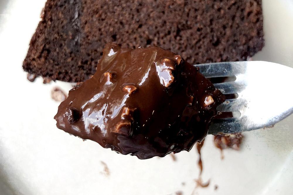 The dark chocolate ganache has a lovely nuttiness.