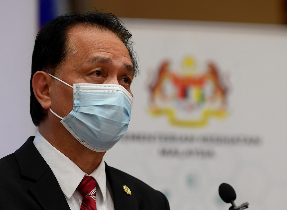 Director-General of Health Tan Sri Dr Noor Hisham said the factory clusters were detected following targeted screening exercises. — Bernama pic