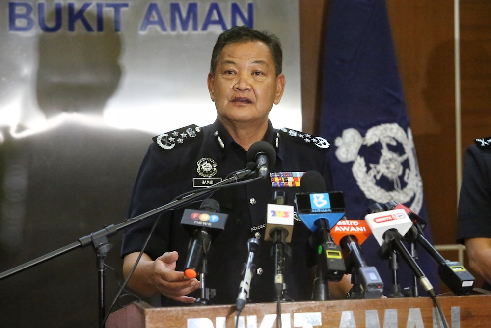 Inspector-General of Police Tan Sri Abdul Hamid Bador said Bukit Aman's narcotics department is in the process of taking action against drug lords. — Picture by Choo Choy May