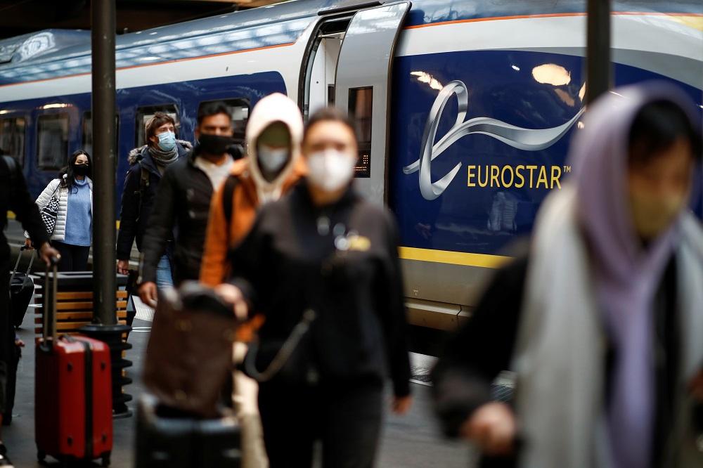 Passengers arrive at the Eurostar terminal at Gare du Nord train station, amidst the coronavirus disease pandemic, in Paris December 23, 2020. — Reuters pic