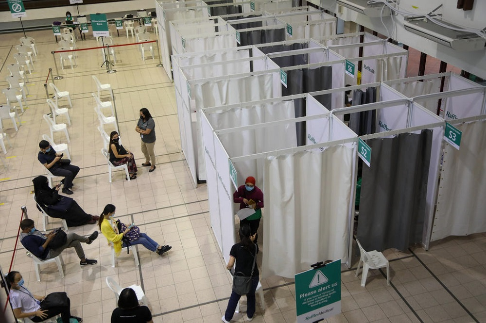 A view of the newly set up vaccination centre at Tanjong Pagar Community Club in Singapore January 26, 2021. — TODAY pic