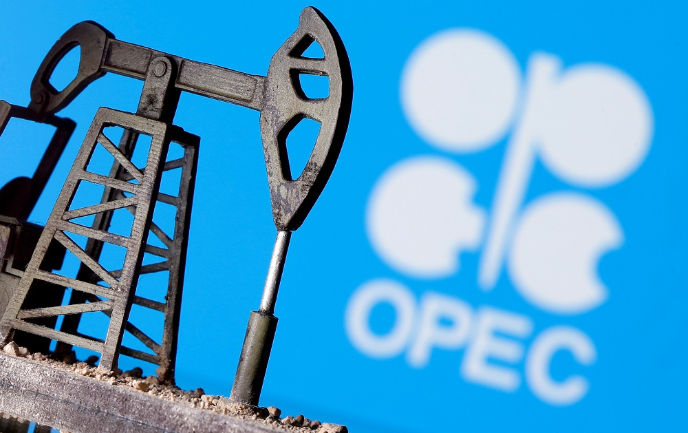 Opec this month cut its 2021 forecast for US tight crude and expects production to decline by 140,000 barrels per day to 7.16 million bpd. — Reuters pic