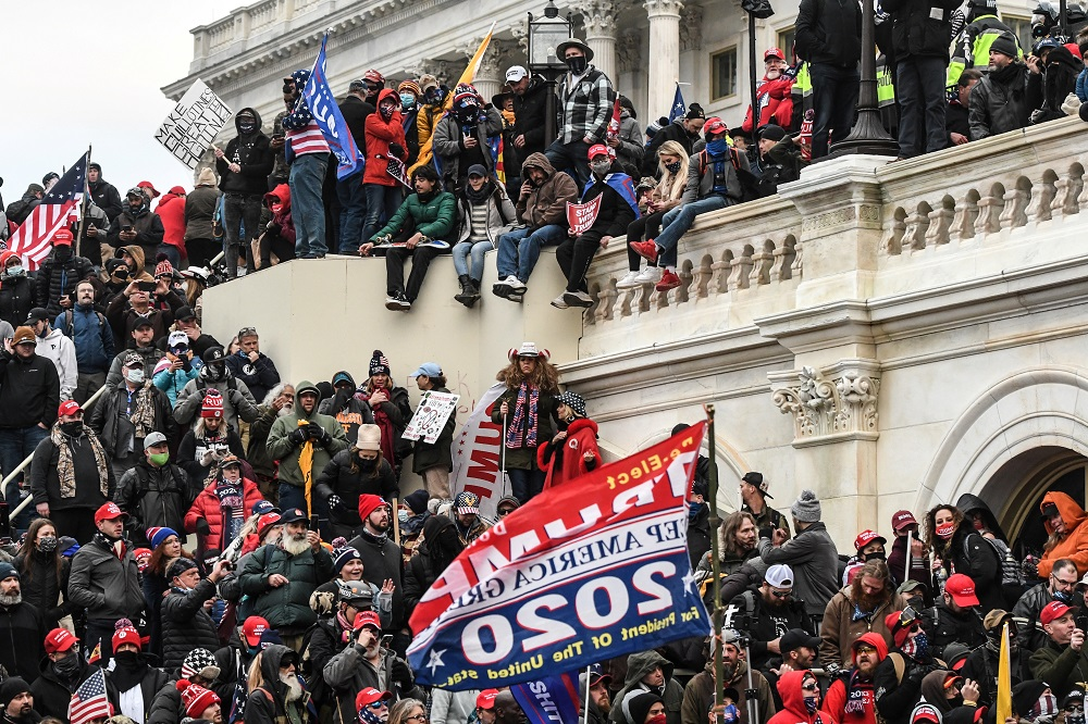 A mob of supporters of US President Donald Trump storm the US Capitol Building in Washington January 6, 2021. — Reuters pic