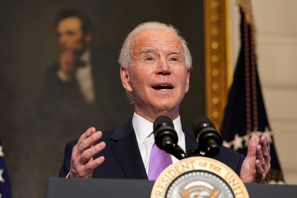 US President Joe Biden speaks about the fight to contain the coronavirus disease (COVID-19) pandemic, at the White House in Washington January 26, 2021. — Reuters pic