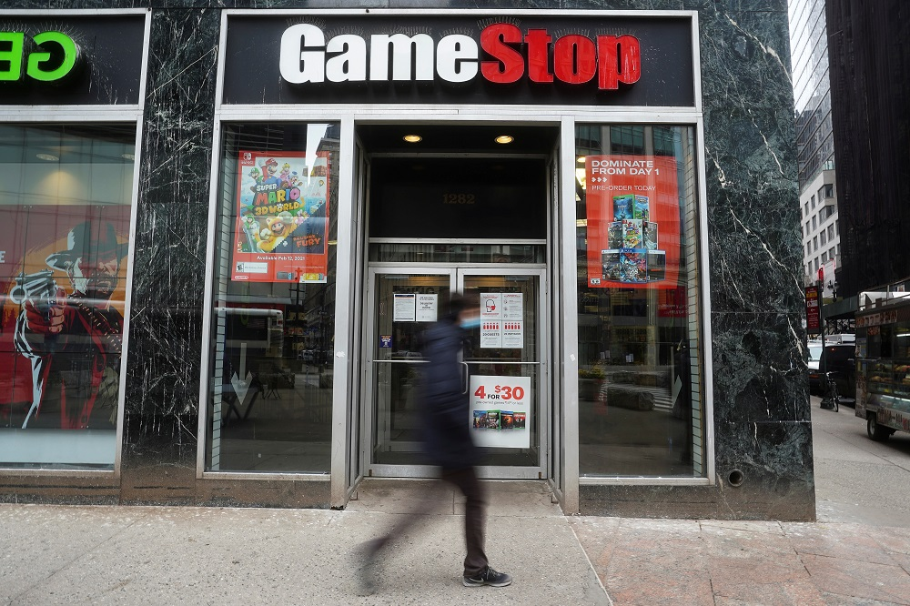A GameStop store is pictured amid the coronavirus disease pandemic in the Manhattan borough of New York January 27, 2021. — Reuters pic