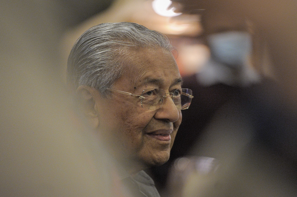 Tun Dr Mahathir said the government must accept Malaysia's multiracial fabric and factor this into its policymaking. — Picture by Shafwan Zaidon