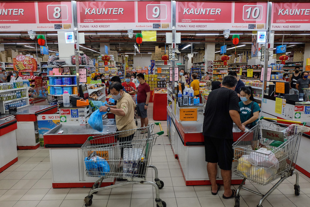 The public has been advised against panic buying as it can cause shortage in supply of essential goods in the market. — Picture by Yusof Mat Isa