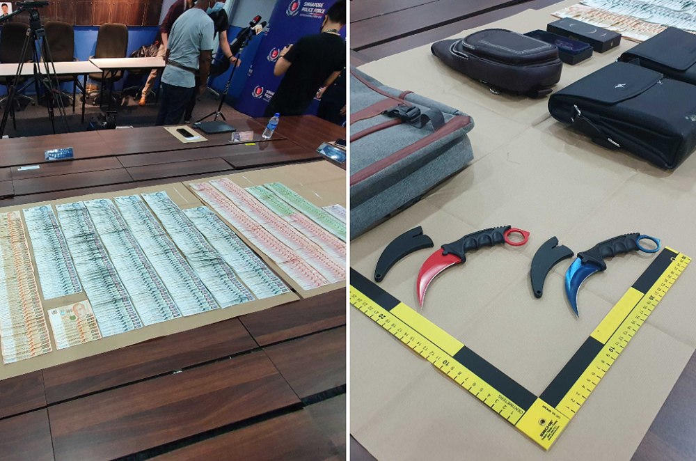 At a media conference after the robbery, the police said they had recovered about S$30,000 of the loot. — TODAY pic