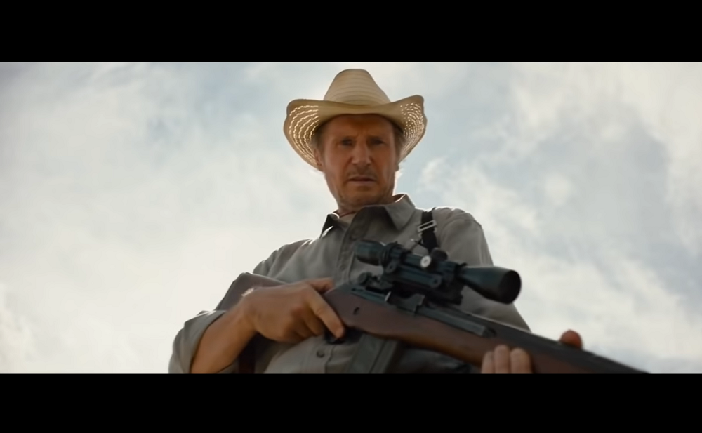 Liam Neeson stars in 'The Marksman' thriller from Open Road. — Screen capture via YouTube