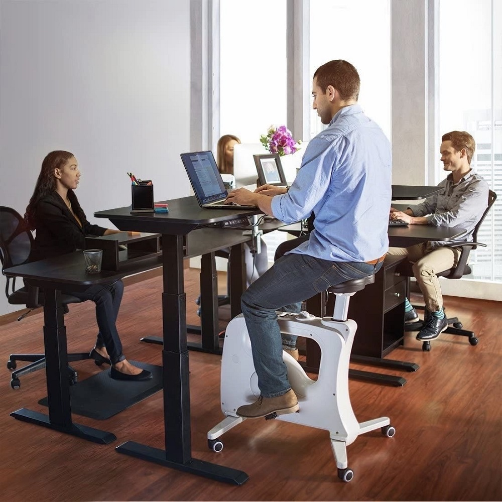 Tek Active makes a bike-desk hybrid that can keep people active while working sitting down. — Picture courtesy of Tek Active