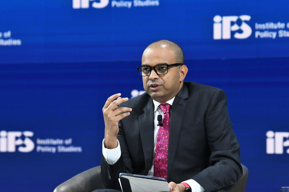 The People's Action Party's Dr Janil Puthucheary, speaking at an IPS forum on Jan 25, 2021.  — Picture by Jacky Ho/Institute of Policy Studies via TODAY