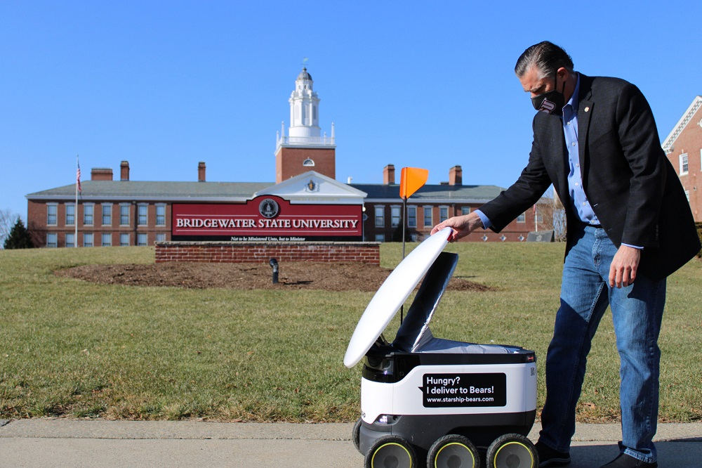 Starship is a small robot that can deliver food or small supplies autonomously and quickly. — Picture courtesy of Starship Technologies
