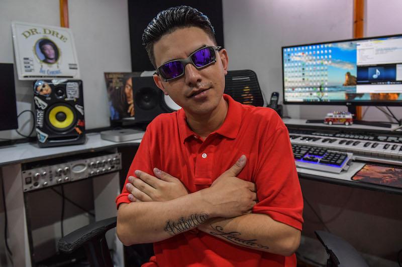 Brazilian musician Leandro Aparecido Ferreira, known as MC Fioti, poses at a recording studio, in Sao Paulo, Brazil January 20, 2021. — AFP pic