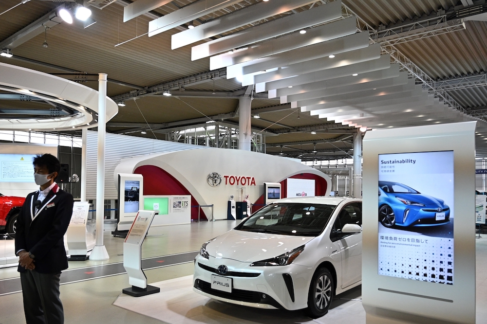 Japan's Toyota reclaimed the title of world's top-selling automaker in 2020, according to data released by the firm on January 28, 2021, pushing Volkswagen into second place for the first time in five years. — AFP pic