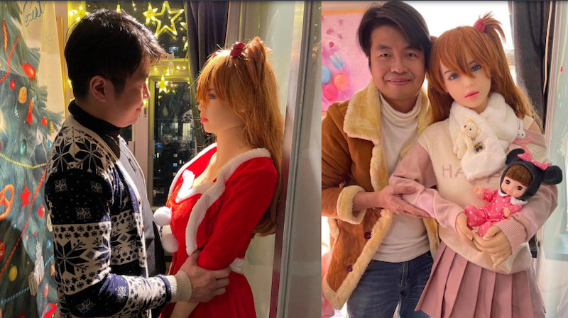 Tse got engaged to Mochi earlier this year, after dating the doll for over a year. — Picture via Facebook/Tse Tin Wing