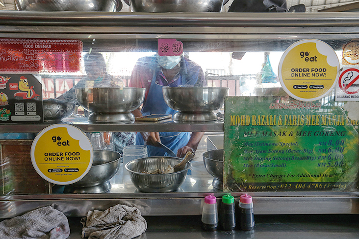 The 'mee manja' stall is located in Seong Huat Cafe along Larut Road.