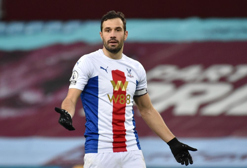 Crystal Palace's Luka Milivojevic reacts during the game against Aston Villa at Villa Park December 26, 2020. — Reuters pic