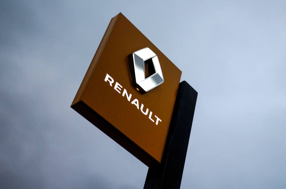 The logo of Renault carmaker is pictured at a dealership in Vertou, near Nantes, France, January 13, 2021. — Reuters pic