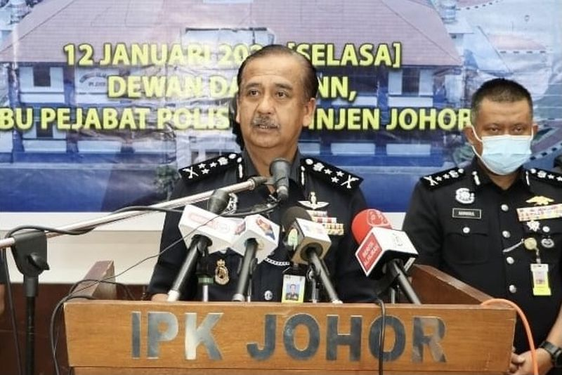 Datuk Razarudin Husain @ Abd Rasid said the raids in Johor Baru last weekend were the largest successful drug busts in Malaysia for the police this year.  — Picture courtesy of the Johor police
