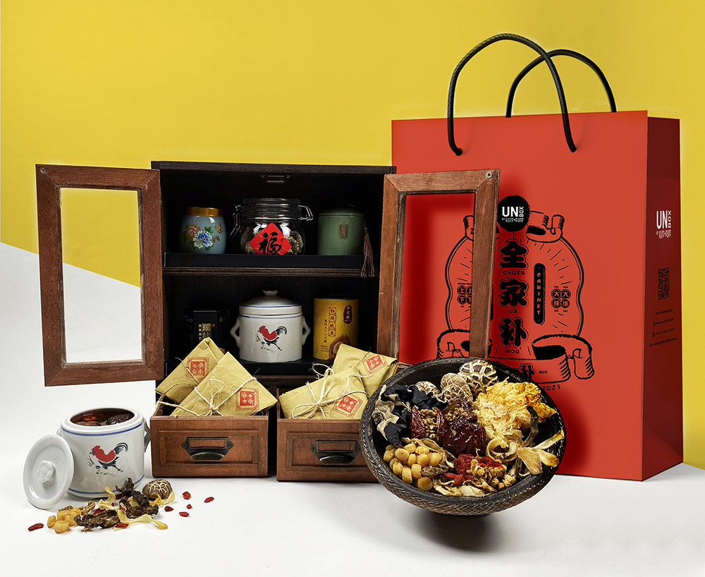 Keep your loved ones nourished with the Treasure Cabinet, your own mini herbal shop with products from Chai Huat Hin.