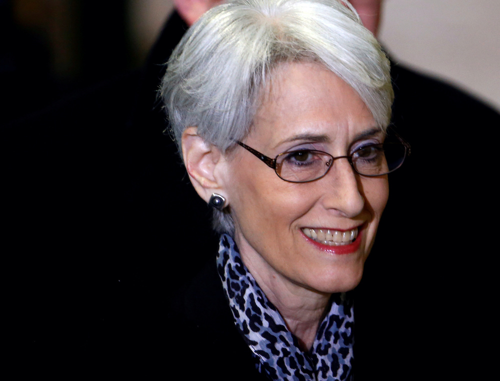 Wendy Sherman arrives for a meeting on Syria at the United Nations European headquarters in Geneva February 13, 2014. — Reuters pic
