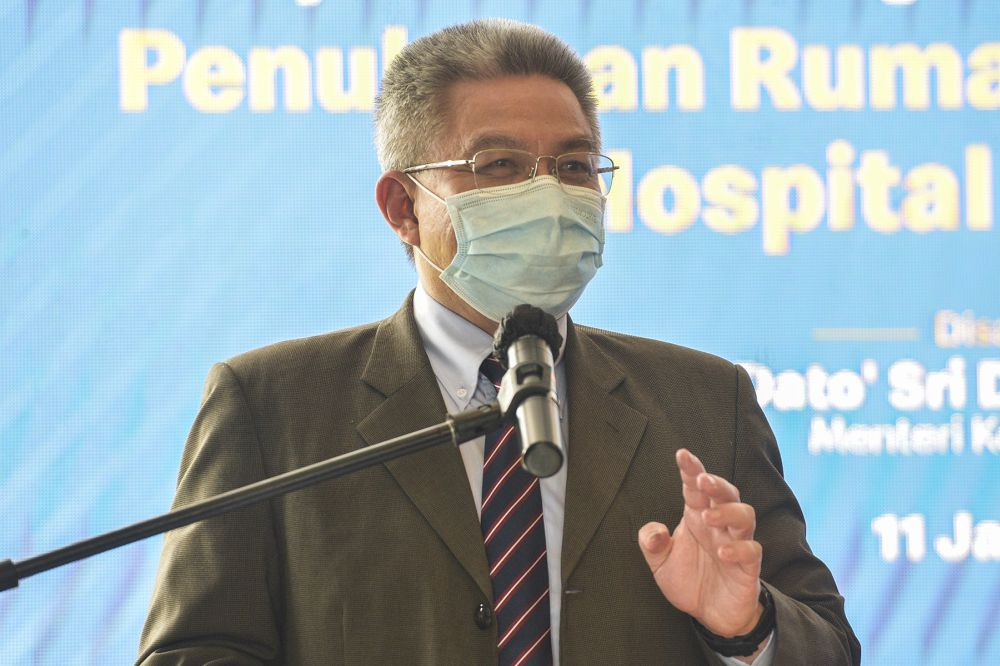 Health Minister Datuk Seri Dr Adham Baba said this development is worrying and advised Malaysians to monitor themselves. — Picture by Miera Zulyana
