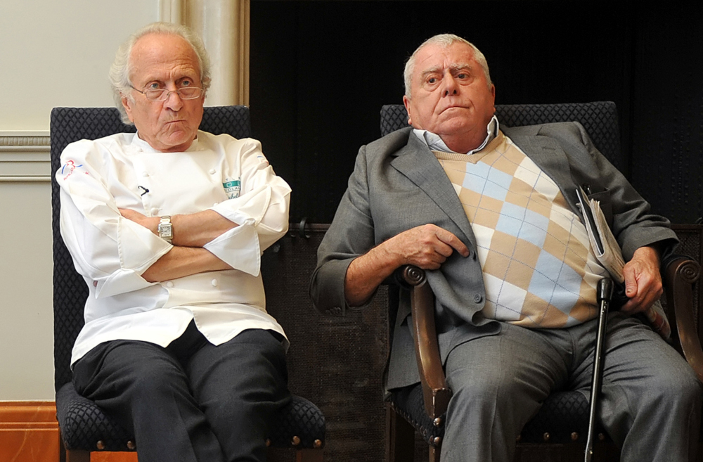 French chef Albert Roux (right), who along with his late brother Michel helped revolutionise Britain's dining scene with Le Gavroche restaurant in London, has died at 85, his family said January 6, 2021. — AFP pic
