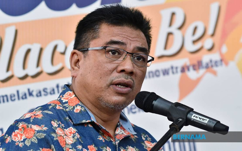 Melaka Chief Minister Datuk Seri Sulaiman Md Ali said the Covid-19 pandemic had a critical impact on all economic sectors in the state, especially the tourism sector, with the decline in tourist arrivals exceeding 70 per cent last year. — Picture via Twitter/Bernama