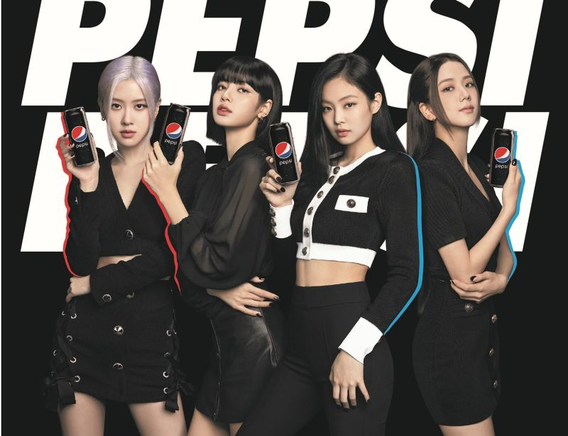 (From left) Rosé, Lisa, Jennie, and Jisoo are the new faces of Pepsi's Asia Pacific region campaign. — Picture courtesy of Pepsi Malaysia