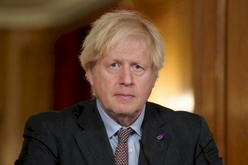 Britain's Prime Minister Boris Johnson pictured at 10 Downing Street in London, Britain January 27, 2021. — Reuters pic
