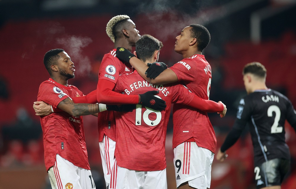 The EPL sent out new directives last week including demands that players tone down celebrations such as hugging after goals are scored and avoid handshakes and swapping shirts. ― Pool via Reuters