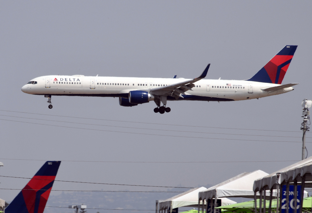 In this file photo taken August 20, 2020, a Delta Airlines lands at Los Angeles International Airport in Los Angeles, California. — AFP pic