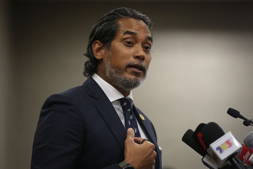 Khairy said that based on the delivery schedules provided by Malaysia's vaccine suppliers, a more steady and ample supply of vaccines will commence in June. — Picture by Yusof Mat Isa