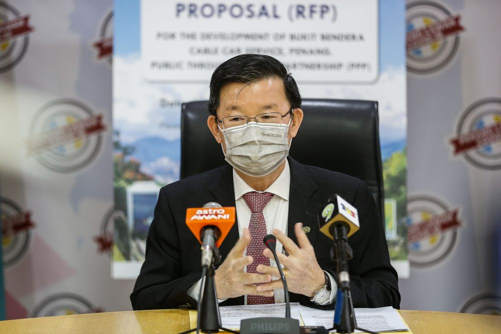 Penang Chief Minister Chow Kon Yeow speaks during a press conference at Komtar, George Town January 11, 2021. — Picture by Sayuti Zainudin
